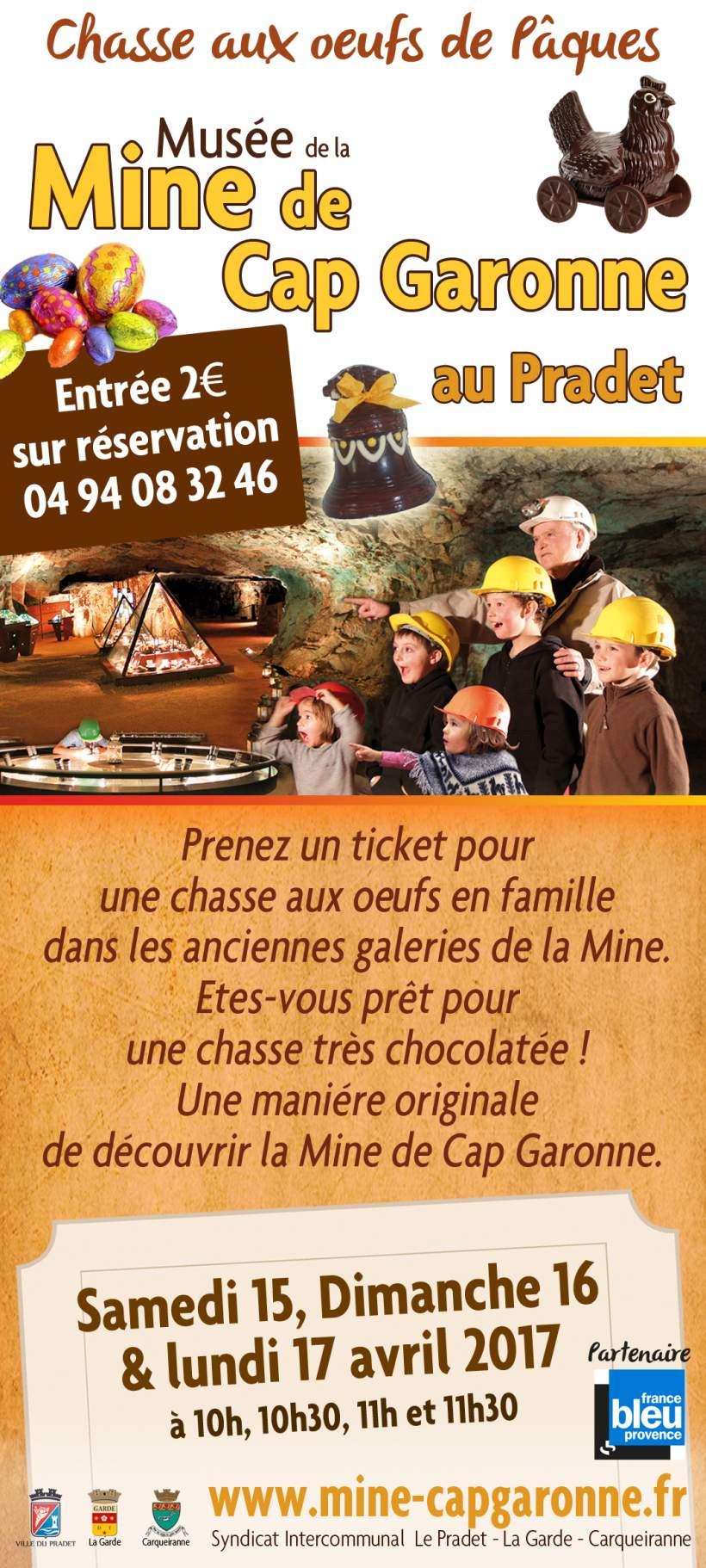 CHASSE AUX OEUFS PAQUES MINE de CAP GARONNE 15,16 et 17 AVRIL